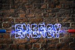 Blitz erzeugte Energie Stockfoto
