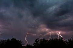 Blitz-Gewitter Stockbild