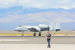 A-10 Blitz II auf Anzeige Lizenzfreies Stockfoto