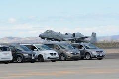 A-10 Blitz II auf Anzeige Lizenzfreie Stockfotografie