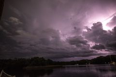 Blitz im Himmel Stockbild