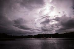 Blitz im Himmel Lizenzfreies Stockfoto