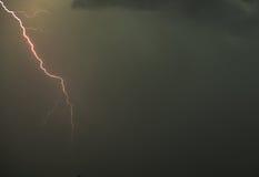 Blitz im Himmel Stockfotografie