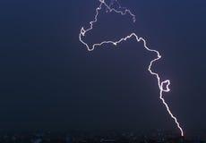Blitz im Himmel Stockfoto