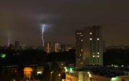 Blitz im Himmel Stockfotos