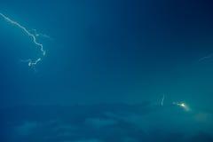 Blitz im nächtlichen Himmel in Sa-PA, Nord-Vietnam Stockfotos