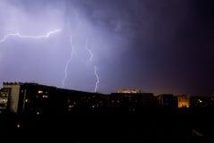 Blitz im stürmischen Himmel Lizenzfreie Stockbilder