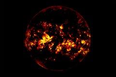 Blitz im Stern des dunklen Schwarzen Stockbilder
