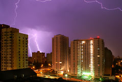 Blitz ist in der Stadt Lizenzfreies Stockbild