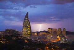Blitz in Kuala Lumpur am Abend Lizenzfreies Stockbild
