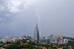 Blitz in Kuala Lumpur City Lizenzfreies Stockfoto