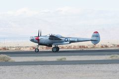 Blitz Lockheeds P-38 Lizenzfreie Stockfotografie