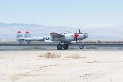 Blitz Lockheeds P-38 Lizenzfreie Stockbilder