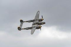 Blitz Lockheeds P-38 auf Anzeige Stockbilder