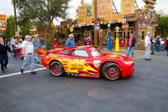 Blitz McQueen im Auto-Land Stockfotografie