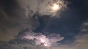 Blitz mit den Sternen Stockbilder