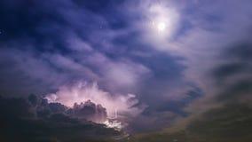Blitz mit den Sternen Stockfotos