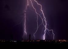 Blitz nachts Stockbilder