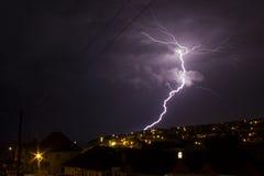 Blitz in Saltdean, Brighton, interessanter großer Blitz Stockfotografie