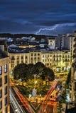 Blitz und Donner in Girona Stockbild