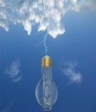 Blitz und Glühlampen Lizenzfreie Stockfotografie
