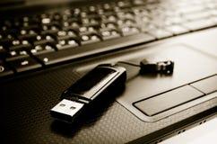 Blitz und Laptop Lizenzfreie Stockbilder
