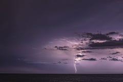 Blitz und Wolken Stockbild