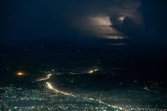 Blitz unter der Stadt Stockbild