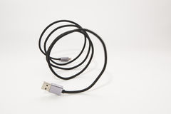 Blitz USB-Kabel Lizenzfreies Stockbild