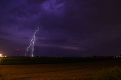 Blitz während des Sturms Lizenzfreie Stockbilder