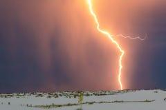 Blitz am Weiß versandet Nationaldenkmal lizenzfreie stockfotos