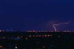 Blitz in Winnipeg Lizenzfreie Stockfotos