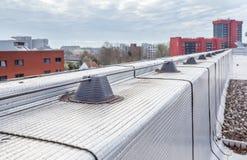 Blitzableiter eines Gebäudes Stockbilder
