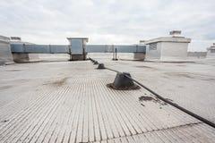 Blitzableiter eines Gebäudes Stockfotografie