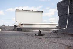 Blitzableiter eines Gebäudes Lizenzfreies Stockfoto