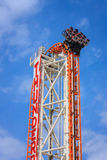 Blitzachterbahn in der Coneyinsel Luna Park - Bro Lizenzfreies Stockfoto