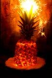 Blitzananas mit Feuerwerk auf die Oberseite Lizenzfreies Stockfoto