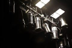 Blitzausrüstung in der Theaternahaufnahme Stockbilder