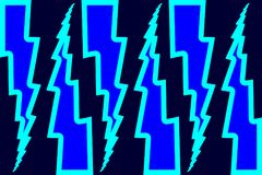 Blitzbolzen - abstraktes geometrisches Vektormuster Lizenzfreies Stockfoto