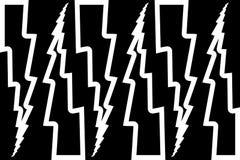 Blitzbolzen - abstraktes geometrisches Vektormuster Lizenzfreie Stockfotos