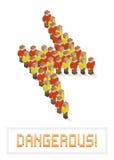 Blitzbolzen bildete von den isometrischen Pixelkunstleuten Stock Abbildung
