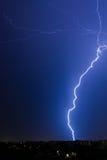 Blitze über Bukarest Stockfotografie