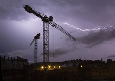 Blitze über Stadt Lizenzfreies Stockbild