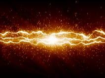 Blitze auf dunklem Hintergrund Stockbild