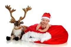 Blitzen e bebê Fotos de Stock Royalty Free