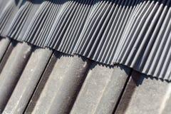 Blitzen für Dachfensteroberlicht oder -Mansardenfenster Stockfoto