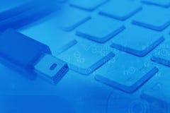 Blitzkabel- und -tastaturzusammenfassung Stockbild