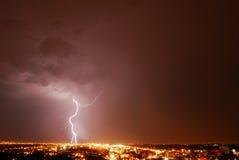 Blitznacht Stockbild