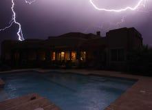 Blitzschläge Stockbild