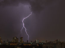 Blitzschlag über Bangkok Stockfotos